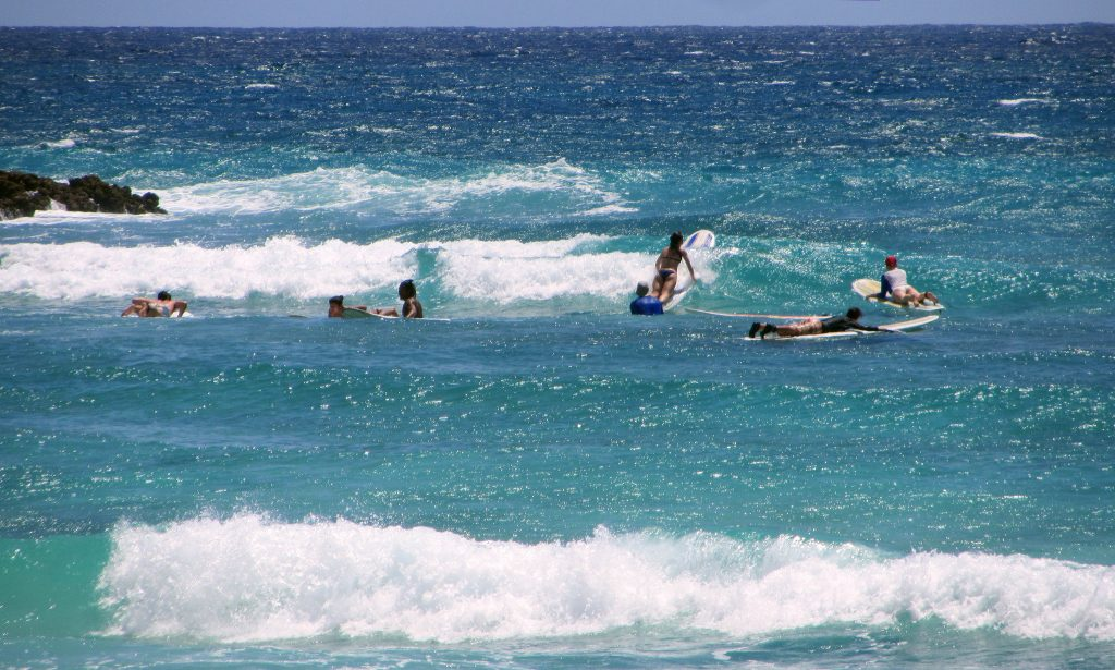 barbados surfing
