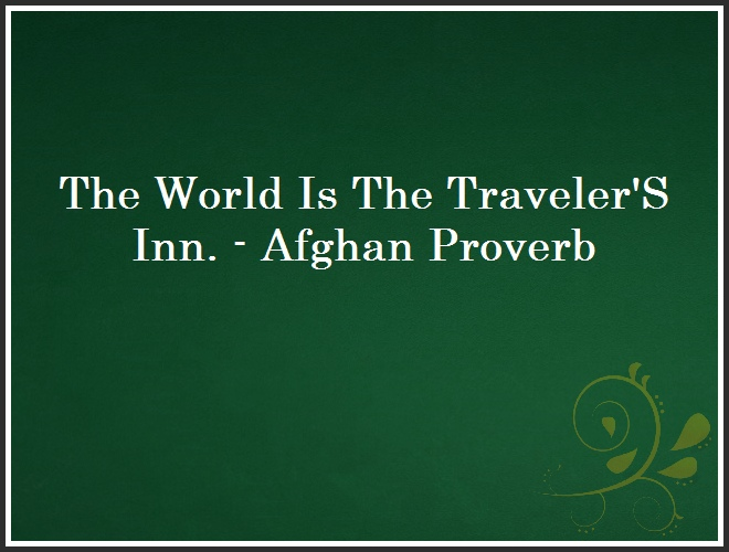 The World Is The Traveler